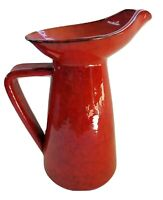 Mid Century Peasant Village PV Pottery Vase/Pitcher 66368, Mottled Red