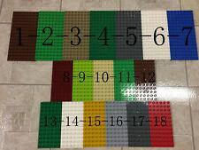 1 lego duplo flat plate 8X16 6X12 castle disney white gray brown Tan black blue