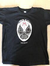 Lucha Libre Mexico Shirt (medium) Black Luchador Mask Print