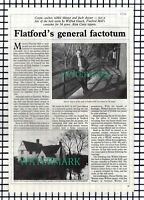 (8354) Wilfred Gooch Flatford Mill Essex  - 1988 Article