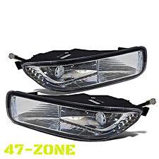 Fit 03 04 Toyota Corolla Fog Lights Lamps Kit Clear Lens Chrome Housing