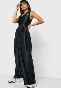 Nike Womens Sportswear Glam Dunk Jumpsuit Icon Clash Black BV3004-010 Size XL