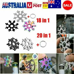 18-in-1 stainless steel snowflakes multi-tool  HOT AU AN