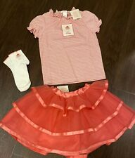 New Janie and Jack Girls 5 Patisserie Shop Tutu Skirt Cake Shirt Pink Headband