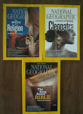 3 Issues National Geographic Religion + Cleopatra + Bible June July Dec 2011