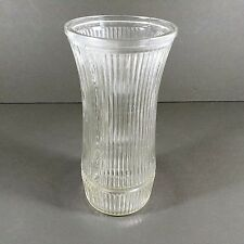 Hoosier Glass Vase Clear Ribbed Stripe 4088-B USA Made
