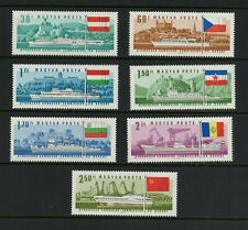 R512  Hungary  1967  ships flags Danube Commission  7v.  MNH