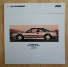 FORD THUNDERBIRD orig 1990 USA Mkt Large Format Brochure Catalogue - Super Coupe