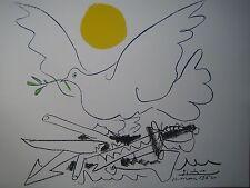 """PICASSO PABLO (1881-1973) LITHOGRAPHIE   """"LE MONDE SANS ARME"""""""