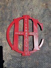 New listing International Harvester Ihc Logo Advertising Sign. Cast Aluminum. Man Cave Wall