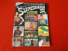 Vintage Science Fiction Magazine Superman Iii Poster Magazine 1983 5