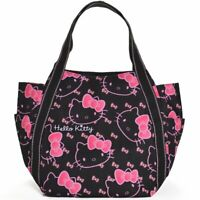 Hello Kitty Sanrio [New] Print Tote Bag (Black face) Kawai Japan Free Shipping