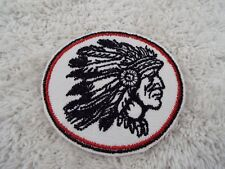 "Red INDIAN CHIEF 3"" Embroidery Iron-on Custom Patch (E10)"