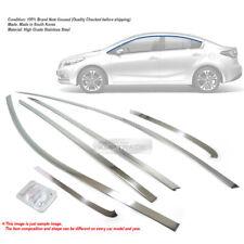 Stainless Steel Chrome Window Upper Arc Trim Molding 6P For KIA 2013-2017 Forte