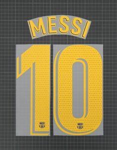 MESSI #10 2019-2021 Player Size La Liga Yellow Nameset Barcelona