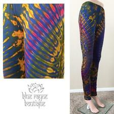 Rainbow Splash Hippie BoHo Tie Dye Rayon Yoga Leggings Sure Design Print #25