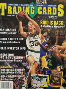 Trading Cards Magazine July 1991 - NBA Celtics - Larry Bird - No Label - EX