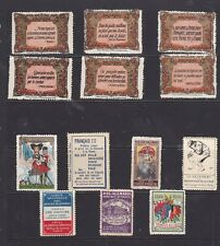 More details for poster stamps, a collection of 13 french wwi military labels