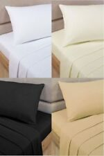 100% Egyptian Cotton Flat Sheets Single Double King Sizes Top Percale Quality