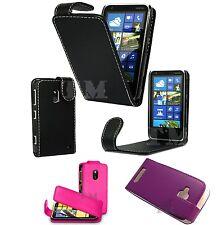 Estilo De Cuero Premium Abatible Petaca Cubierta Estuche Para Nokia & Sony Modelos de Teléfono Móvil
