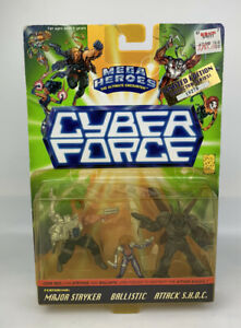 1995 Cyber Force Mega Heroes Limited Edition Major Stryker/Ballistic/S.H.O.C.