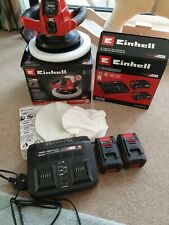 New Einhell 18V  Polisher. CE-CB 18/254. Plus 2x new batteries & dual charger