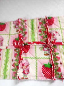 STRAWBERRY SHORTCAKE RAGGEDY SECURITY BLANKET WITH PACIFIER
