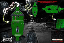 LOSI LST 3XL-E CARBON FIBER CHASSIS SKID PLATE WRAP DECAL KIT HOP UP SET GREEN