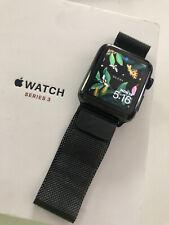 Apple Watch Series 3 Stainless Steel Case with Milanese Loop - Space Black