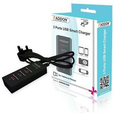 3 PORTS USB SMART MULTIPLE UNIT UNIVERSAL CHARGER for TABLET iPAD iPHONE GPS PSP