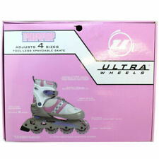 Ultra Wheels Transformer In-line Skates Pink And White, (Box Damage)