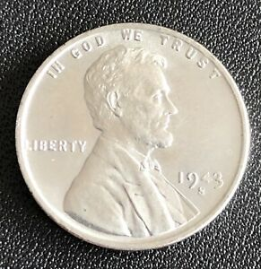#8, 1943-S US Lincoln Steel Wheat 1 Cent Absolute Beauty, KM#132.1