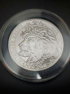 2021 Niue Island Czech $1 1oz Silver two-tailed Czech Lion Coin Bullion .999
