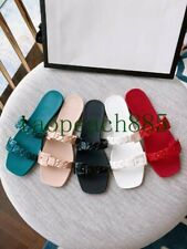 2021 Summer Double Chain Sandals PVC Plastic Beach Shoes Casual Slippers Flats
