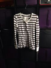 White And Maroon Striped Top 10