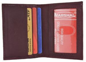 Mens Wallet Bifold Leather Slim Mini Credit Card ID Holder with Front ID Window