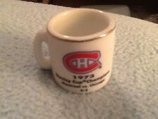 NHL STANLEY CUP CRAZY MINI MUG MONTREAL CANADIANS 1973 CHAMPS W/OPPONENT &SCORE