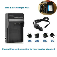 Battery EN-EL19 WALL&CAR Charger For Nikon Coolpix S2500 S6500 S3100 S4100 S6400