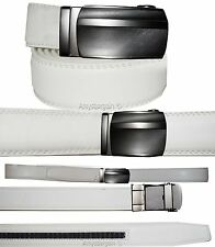 New Men's belt; Genuine Leather Dress Belt Automatic lock Buckle UP to 43 inches