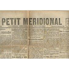 Le PETIT MÉRIDIONAL Lansargue Lodève Gignac Paulhan Clermont Hérault 17 Nov 1918