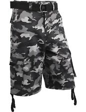 Mens Cargo Shorts with Belt 30 52 Casual Short Camo Pants Summer Multi Pocket IH