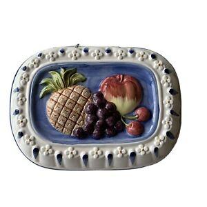 Vintage Ceramic Mold  with embossed Fruit Design