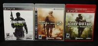 Call of Duty 4 Modern Warfare 1, 2, 3 Trilogy Playstation 3 PS3 3 Game Lot Works