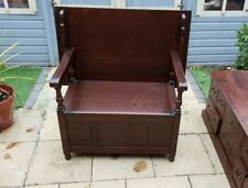 Old Charm Oak Monks Bench / Settle / Pew Seated Storage Shabby Chic * Delivery*
