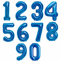 """40"""" TAS Numbers Foil Balloon For Birthday Party Decorations Blue Numbers 0 to 9"""