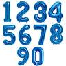 102cm Tas Chiffres Feuille Ballon pour Anniversaire Fête Décorations Bleu 0 9