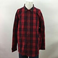 Mens I-n-c Night Out Clubbing Red Plaid XXL Long Sleeve Button Up Shirt