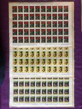 ITALIA 1976 3  FOGLI GIORNATA DEL FRANCOBOLLO  DA LIRE 40-100-150 NUOVI