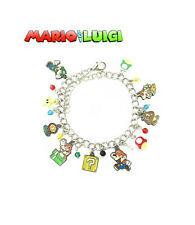Super Mario Bros. (10 Themed Charms) Assorted Metal Charm Bracelet