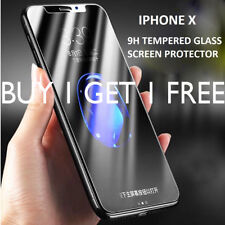 UK 2x 100 Genuine Tempered Glass Screen Protector Protection for Apple iPhone X